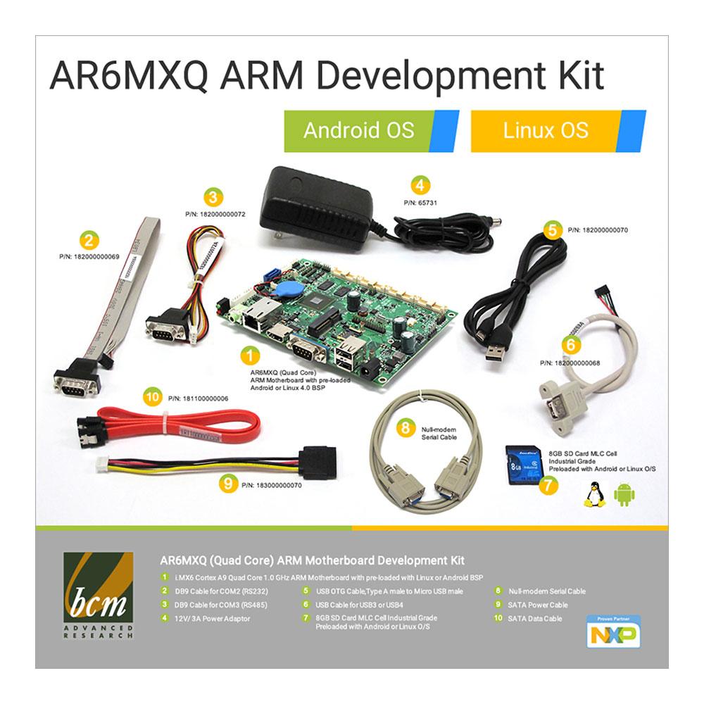 AR6MXQ-DEV AR6MXQ Quad Core Development Kit, Android, Linux