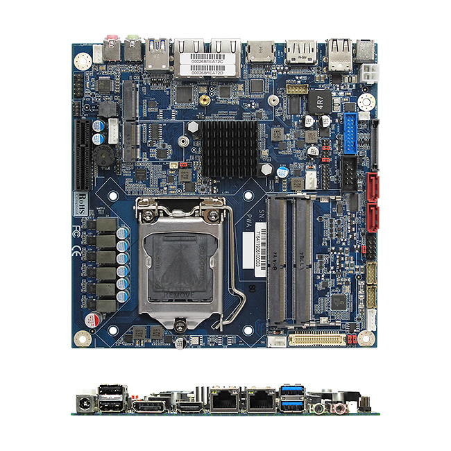 MX310HD Intel H310 mini-ITX motherboard supports 8th Gen Intel Coffee Lake Processors