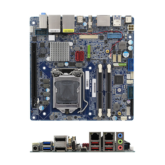 MX370QD (Coffee Lake Platform) Intel Q370 mini-ITX motherboard supports 8th Generation 14nm Intel Coffee Lake Core i7/i5/i3 Processors
