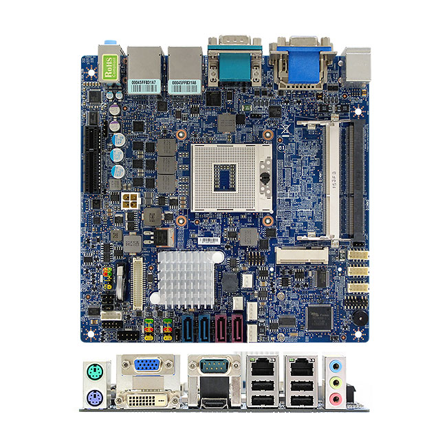 MX67QMD Intel QM67 mini-ITX Motherboard supports 2nd gen Intel Core Mobile Processors