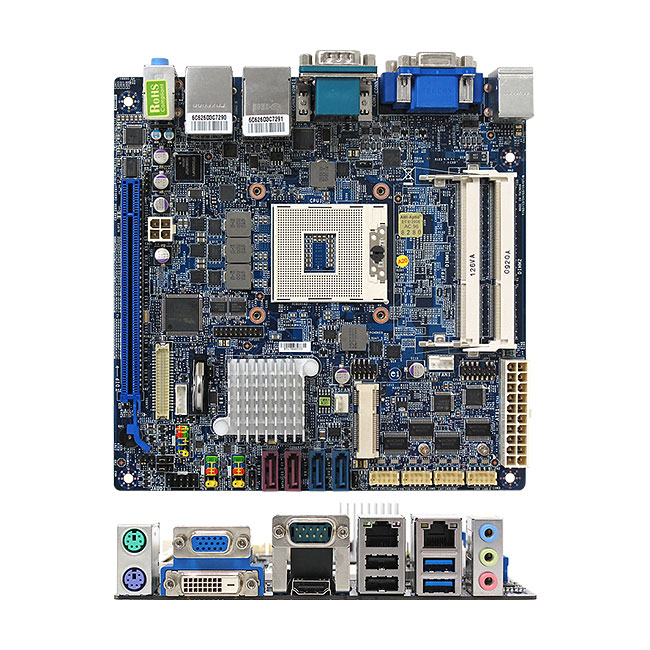 BCM Advanced MX67Q-MD Mini ITX Q67 Socket G μPGA 989 Core I Series Motherboard