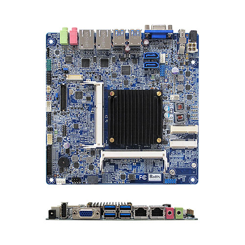 MX1900J Intel® BayTrail-D J1900 Quad Core Fanless Low Profile mini-ITX Motherboard