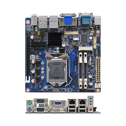 MX61H Intel® H61 PCH mini-ITX Motherboard supports Intel® desktop Core™ i7/i5/i3 desktop processors (Ivy Bridge and Sandy Bridge Processors