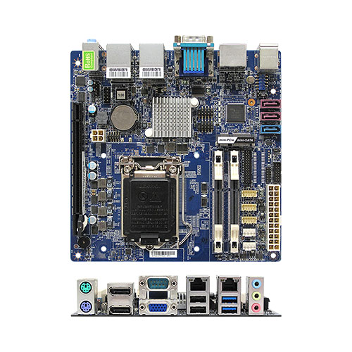 MX81H Intel® H81 mini-ITX Motherboard supports 4th generation Intel® Core™ i7/i5/i3 desktop processors