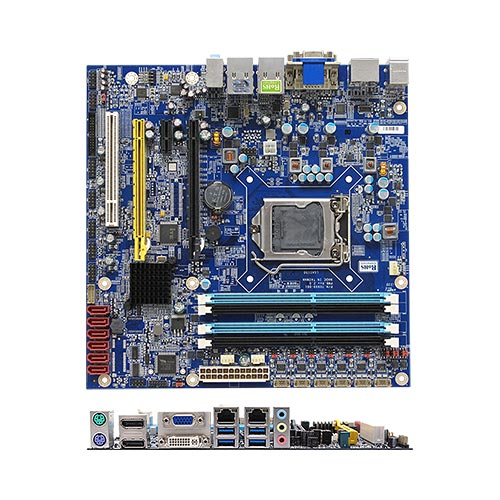 RX87Q Intel Q87 uATX Motherboard supports 4th generation Intel® Core™ i7/i5/i3 processors
