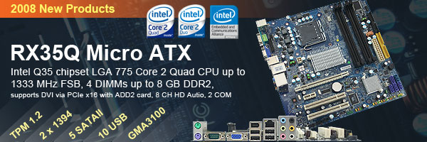 RX35Q Intel Core 2 Quad CPU up to 1066 MHz FSB