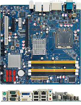 Intel Q45 mATX Motherboard supports vPro Technology, Dual DVI Onboard