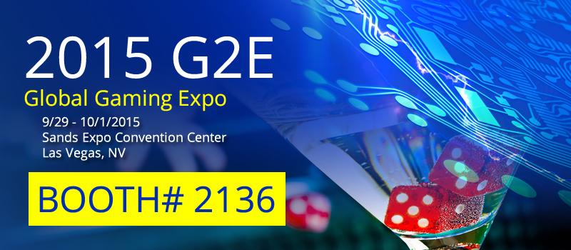 2015 G2E Global Gaming Expo 9/29 - 10/1/2015 BCM Booth 2136