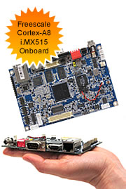 Freescale Cortex-A8 i.MX515 ARM (RISC) Motherboard