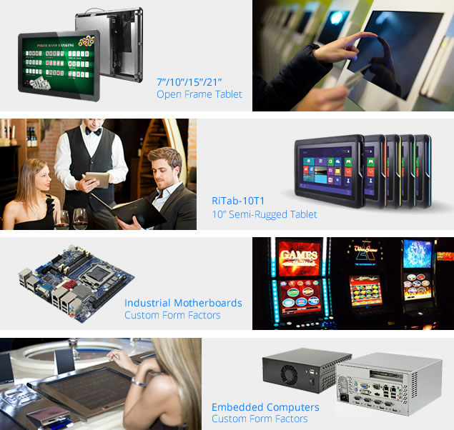 Open Frame Tablet, Semi-Rugged Tablet, Industrial Motherboards, Embedded Computer, Custom Touch Panel PC