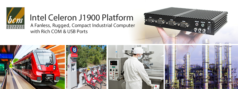 BI160-1900J BayTrail Quad Core Fanless Embedded Industrial Computer
