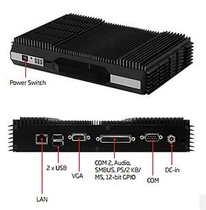 EMS-BYT Wide Temp Atom BayTrail BOX PC