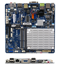 MX280NI Low Profile Fanless mini-itx motherboard