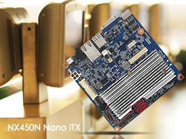 Intel® Atom™ N450 1.66 GHz Low-power Nano ITX Motherboard. Fanless Operation, 12V DC Power