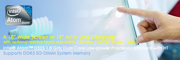 Intel Atom Dual-core 1.8GHz  supports DDR3