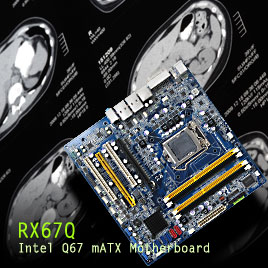 BCM targets August to begin shipping production units of the RX67Q mATX motherboard featuring Intel Q67 Chipset and 2nd Generation Core family processors designed for Performance Driven Embedded Computing Systems