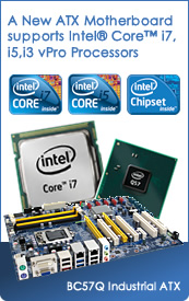 A New Industrial ATX Motherboard supports Intel Core i7, i5 and i3 vPro Processors