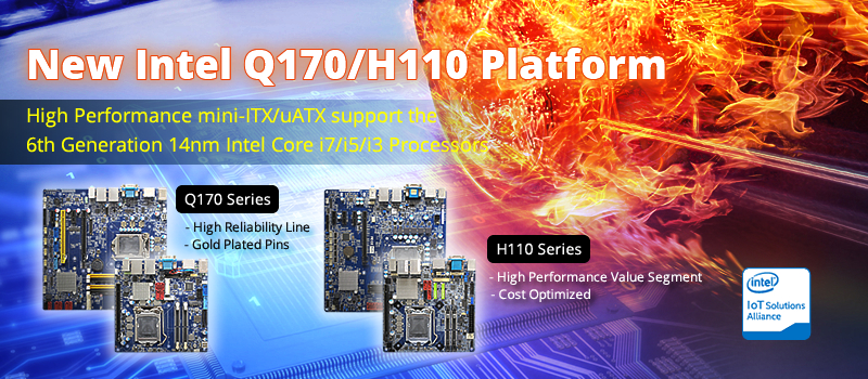 BCM introduces five new 6th Gen Intel® Core™ Processor SoC industrial motherboards in uATX, mini-ITX and COM Express form factors including a new High Reliability line